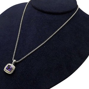 David Yurman sterling silver, purple Amethyst, Diamond, albion, 22