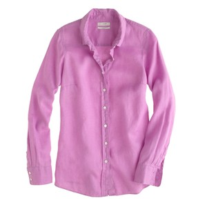 J.Crew Linen Button Down Shirt Lavender