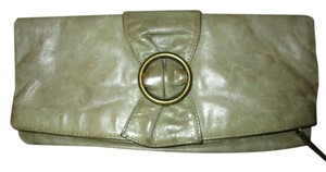 Hobo International Distressed Weathered Leather olive green Clutch