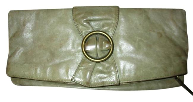 Item - Distressed Olive Green Leather Clutch