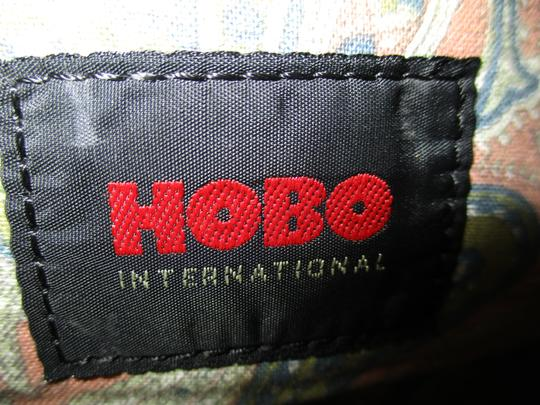 Hobo International Distressed Weathered Leather olive green Clutch Image 5