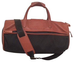 Coach Duffle Leather Limited Edition Men's Black Brown Travel Bag