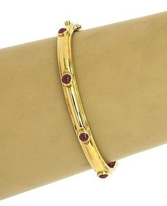 Tiffany & Co. Tiffany,Co,18k,Gold,Cabochon,Rubies,Bangle,Bracelet