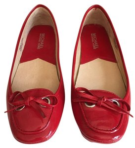 Michael Kors Moccasin Patent Leather Ruby Red Flats