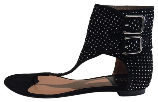Preload https://img-static.tradesy.com/item/18519457/laurence-dacade-black-new-studded-ankle-wrap-leather-flat-sandals-size-eu-365-approx-us-65-0-1-540-540.jpg