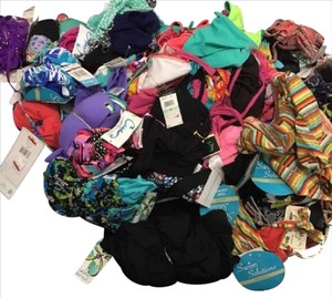 see below 100 NWT Brand Name Bikini Swimsuit Tops & Bottoms BULK ** WHOLESALE