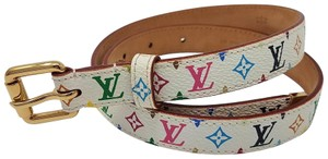 Louis Vuitton White Multicolore LV Monogram Louis Vuitton waist belt S Small