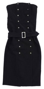 INTERMIX short dress Black Strapless Double Button Down Front on Tradesy