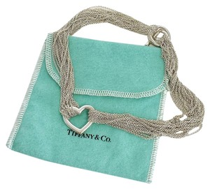 Tiffany & Co. Sterling Silver Multi-Chain Heart Choker