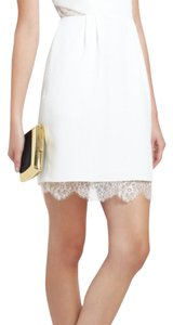 BCBGMAXAZRIA short dress White Summer Party Lace Lace Trim on Tradesy