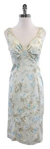 Dolce&Gabbana short dress Light Blue Beige Floral Print on Tradesy