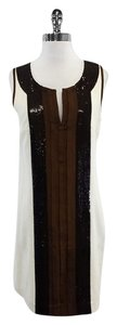 Tory Burch short dress Cream Brown Sequined Panel on Tradesy