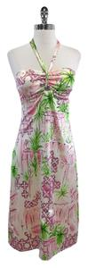 Lilly Pulitzer short dress Beach Hotel Print Silk Halter on Tradesy