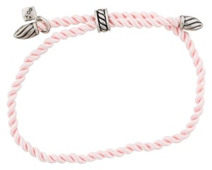 David Yurman Sterling silver Pink David Yurman Cord Bracelet