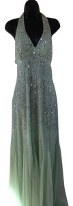 Adrianna Papell Prom Sequins Halter Open Back Dress