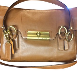 Leather Coach satchel Satchel in Brown