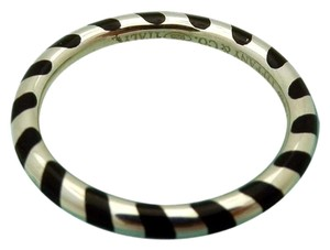 Tiffany & Co. Tiffany & co striped ring black and silver