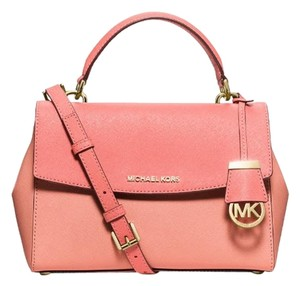 Michael Kors Ava Messenger Satchel in Pink Grapefruit