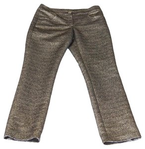 Chanel 12a Pant Straight Pants Gold Metallic Black