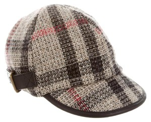 Burberry Brown Burberry Wool Explosive Nova Check Hat