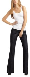 7 For All Mankind Crystal Embellished Flare Leg Jeans-Dark Rinse