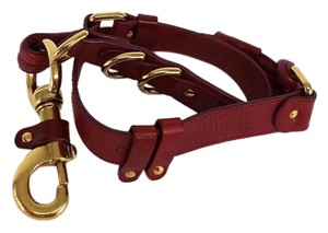 Chloé Red Leather Gold Lobster Clasp Belt