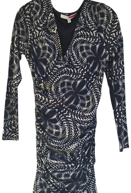Tracy Reese Navy & White Work/Office Dress Size 8 (M) Tracy Reese Navy & White Work/Office Dress Size 8 (M) Image 1