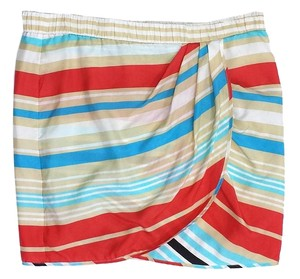 Cynthia Steffe Multi Color Striped Silk Skirt
