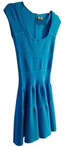 ISSA London short dress Turquoise Blue Knit Fit And Flare Midi on Tradesy