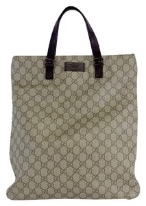 Gucci Light Brown Monogram Leather Laptop Bag
