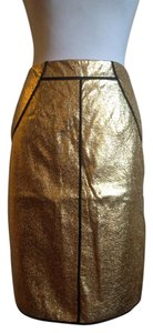 Sachin + Babi Metallic Pencil Skirt Gold