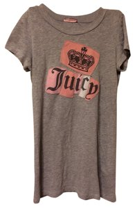 Juicy Couture T Shirt Grey Pink