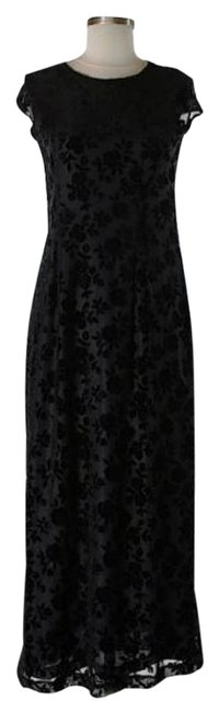 Black Maxi Dress by Donna Karan Dnky Lace Detail Overlay Versatile Image 0