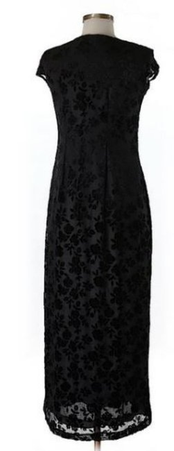 Black Maxi Dress by Donna Karan Dnky Lace Detail Overlay Versatile Image 1