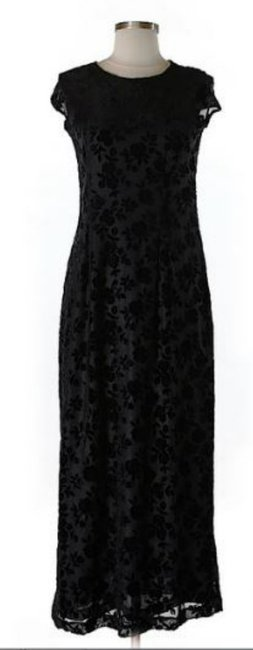 Black Maxi Dress by Donna Karan Dnky Lace Detail Overlay Versatile Image 2
