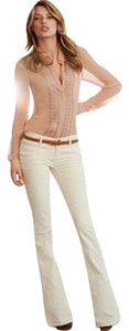Goldsign Curduroys Passion Trendy Boot Cut Pants Beige/Tan
