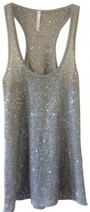 Willow & Clay Sequined Razor Back Top silver