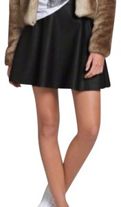 Abercrombie & Fitch Faux Leather Mini Skirt Black