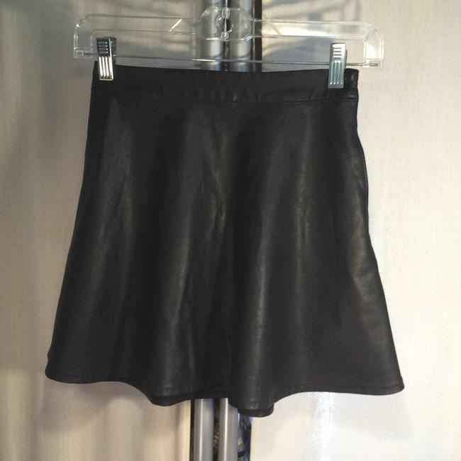 Abercrombie & Fitch Faux Leather Mini Skirt Black Image 1