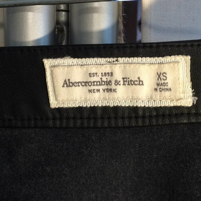 Abercrombie & Fitch Faux Leather Mini Skirt Black Image 5