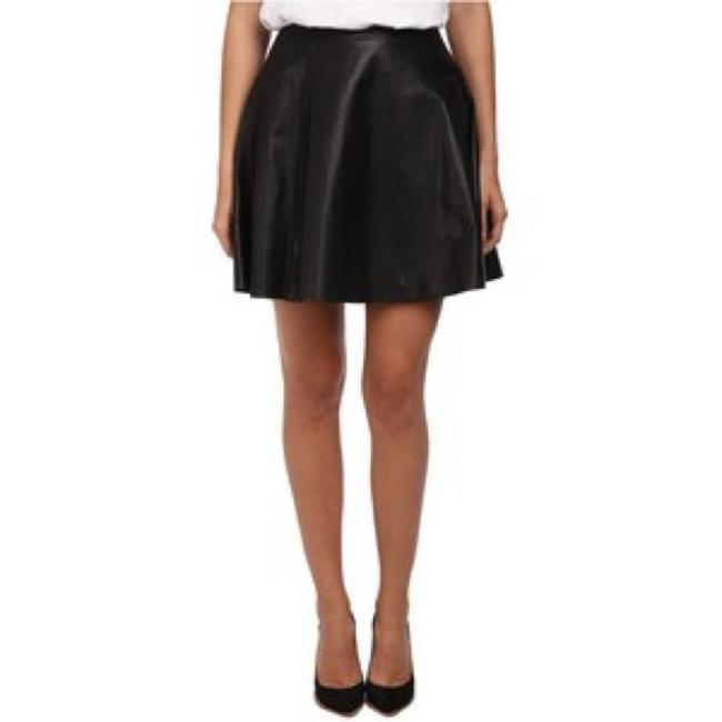 Abercrombie & Fitch Faux Leather Mini Skirt Black Image 6