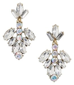 J.Crew NEW!!! TAGS J. CREW CRYSTAL CLEAR GEMSTONE DANGLE EARRINGS!