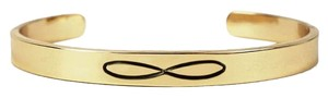 Nasty Gal Kitsch Gold Infinity Idiom Bracelet Cuff Bangle