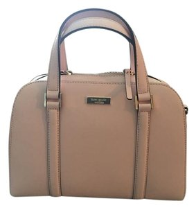 Kate Spade Ballet Light Saffiano Leather Silver Hardware Satchel in PINK