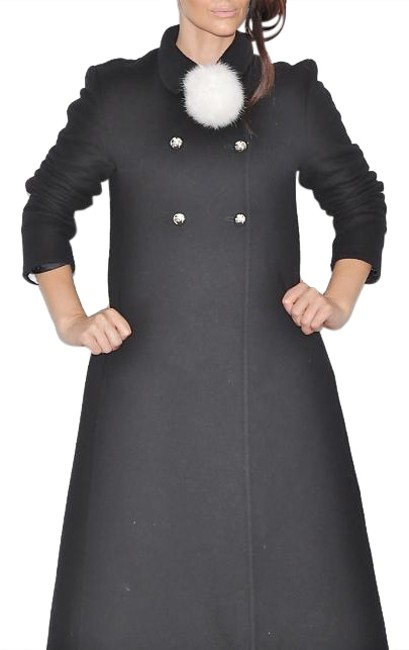 Preload https://img-static.tradesy.com/item/18525787/michael-kors-black-vintage-wool-cashmere-trench-coat-size-8-m-0-1-650-650.jpg