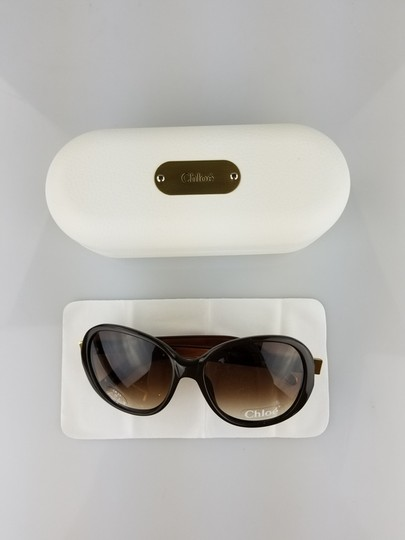Chloé Light Brown Oversized Butterfly Sunglasses Image 5