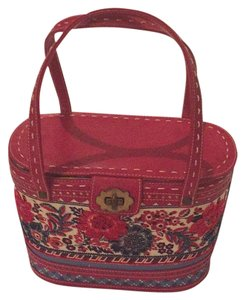 Isabella Fiore Satchel in Red White Blue
