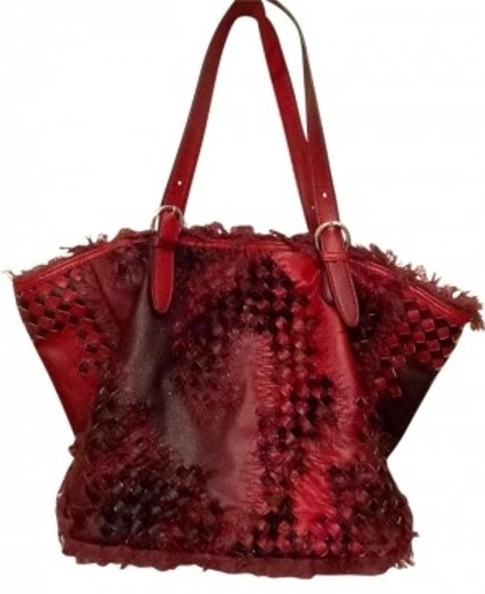 Preload https://item3.tradesy.com/images/nicole-lee-red-leather-tote-185262-0-0.jpg?width=440&height=440