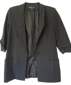 Elizabeth and James Classic Fashion Charcoal/black Blazer