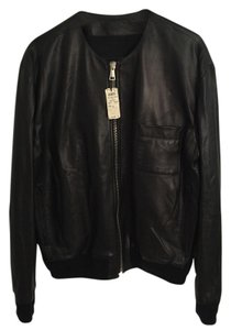 Givenchy Lambskin Bomber Saint Laurent Gucci Leather Jacket